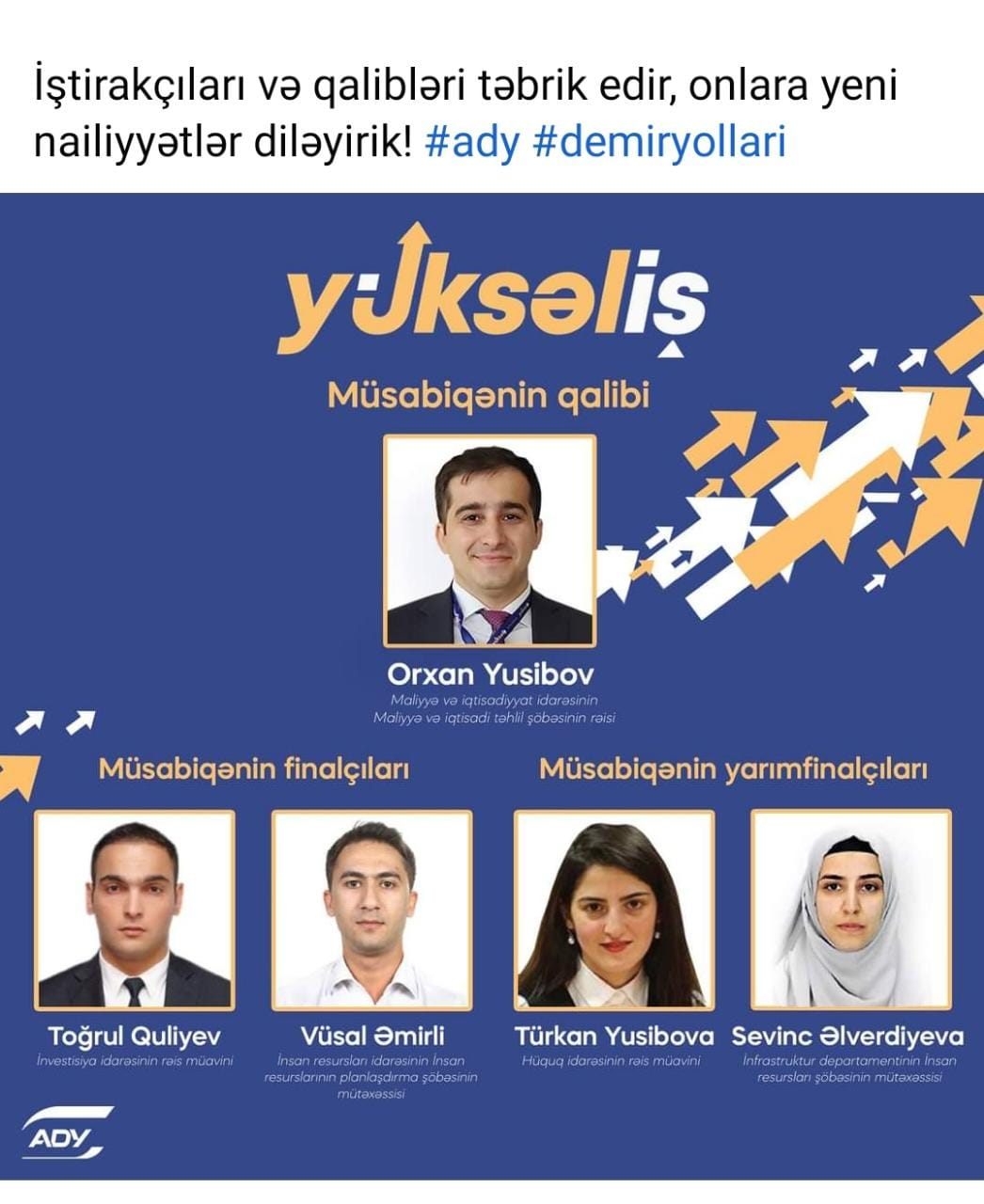 """DƏMİR YOLUNUN """"Yüksəliş""""i - Azərbaycan Dəmir Yollarının  intellektual"""
